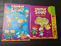 Vintage Rugrats Sticker And Activity Busy Books Rare Eu New Old Stock