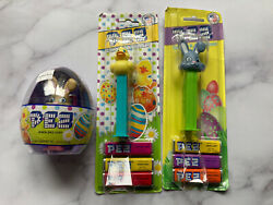 Lot Of Vintage Easter Egg Bunny Rabbit Duck Chick Pez Dispensers