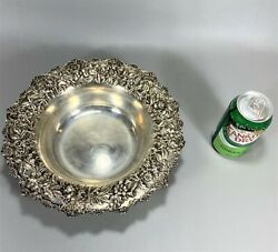 11 Top Quality Repousse Sterling Silver Center Fruit Bowl Kirk And Son Inc Nomono