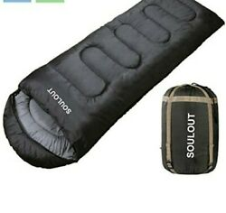 Soulout Sleeping Bag - 4 Seasons Warm Cold Weather Lightweight Portable...