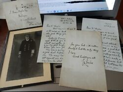 Admiral Charles Morton Forbes Ww2 Autograph Photo And Trio Autograph Letters