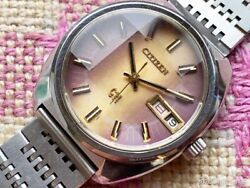 Citizen Highness 36000 Automatic 4-770943y Day/date Vintage Menand039s 1972 Wl25627