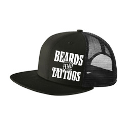 Syndicate Trading Co Beards amp; Tattoos 6 Panel Trucker Hats