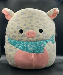 Squishmallow 16andrdquo Rosie The Spotted Pig Bandana Plush Nwt