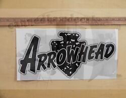 Arrowhead Vintage Style Travel Trailer Decal 1960's Black White And Grey 21