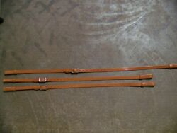 Leather Luggage Straps For Luggage Rack Carrier 3 Strap Set Lt Honey Ss Buckle