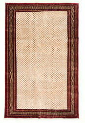 6and0391 X 9and0393 Vintage Hand-knotted Traditional Oriental Wool Area Rug