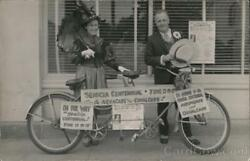 Rppc Couple With Tandem Bicycle And Signsbenicia Centennialca Solano County
