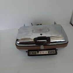 Tested Vintage General Electric Waffle Iron Maker Grill A4g44t Removable Plates