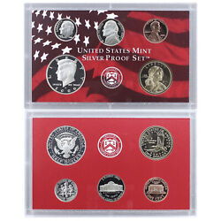 2000 S Partial Proof Set Kennedy Dime Nickel Cent 90 Silver Us Mint 5 Coins