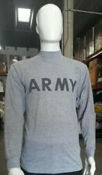 Army Long Sleeve T Shirt Military Issue X-large And Medium Lot Of 673