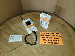 Stihl Oem 2-pack 33rs3-66 18 Green Chainsaw Chains .050 3/8 66dl