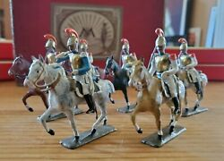 Extremely Rare Cbg Mignot Box Set Pre-war Mounted Carbiniers Lead Toy Soldiers