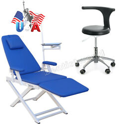 Dental Portable Folding Chair /mobile Adjustable Stools Chair Doctor Pu Leather