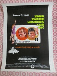 Your Three Minutes Are Up 30x 40 On Card Rolled Poster Beau Bridges 1973