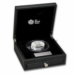 2021 Gb Proof 10 Oz Silver Queenand039s Beasts Griffin Box And Coa - Sku227227