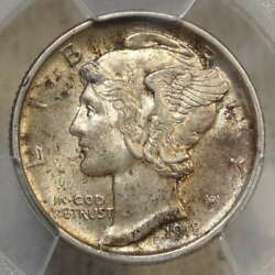 1918-d Mercury Dime Pcgs/cac Ms-62fb Rare Fully Struck Coin Only Cac Ms-62