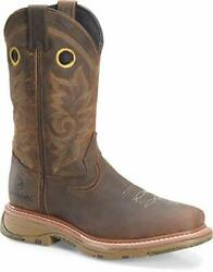 Double-h Boots - Mens - 13andacirc Workflex Max Wide Square Comp Toe Work Dark Beige