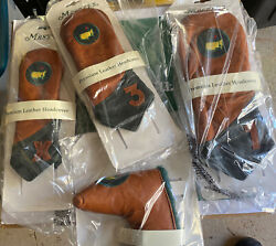 Masters Premium Leather Driver Fairway Hybrid Putter Head Covers Angc Augusta