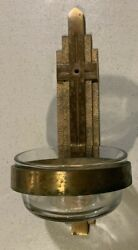 Vintage Brass Church Holy Water Font - Older Holy Water Font - Used