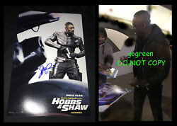 Idris Elba Signed Hobbs And Shaw Poster 11x17 Photo Proof Fast Furious Brixton