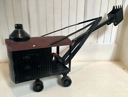 Early 1900andrsquos Pressed Steel Steam Shovel Truck Toy