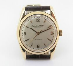 .vintage 1953 International Watch Co 18k Mens 852 Auto Watch 580 + Extract