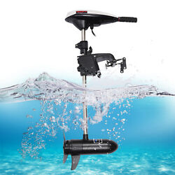 12v 45lbs Electric Outboard Thrust Trolling Motor Brush Motor Boat Engine 50db