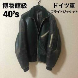 40's German Flight Jacket Ww2 Vintage Rare Collectible Free Shipping From Japan