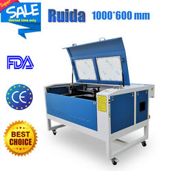 Reci 100w Ruida 6445 Co2 Laser Cutter Engraving Machine 1000mm X 600mm Usb