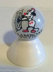 Steamboat Willie Cartoon Character On White Pearl Marble