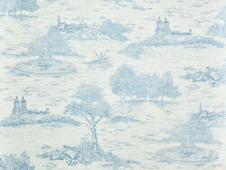 Travers Embroidered Scene Fabric- Central Park Toile / Sky Blue 1.20 Yd 44165692