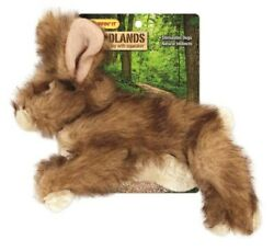 Ruffin'it 16278 Woodlands Large Rabbit Plush Dog Toy With Squeaker