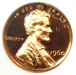 1960 Proof Lincoln Cent 1c Ld - Ngc Pr69 Rd Ultra Cameo Pf69 - 2,500 Value