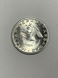 1964 Hungary 10 Filler Brilliant Uncirculated Coin-with Dove On Branch-km 547
