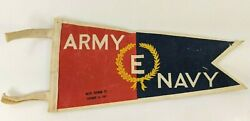 Vintage Army Navy E Production Flag Wwii Excellence Banner Award Pennant