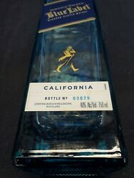 Empty Bottle Blue Label California Limited Edition