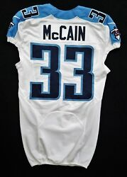 33 Brice Mccain Of Tennessee Titans Nfl Game Issued Jersey