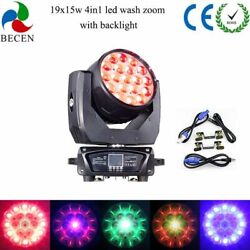 Us 19x15w Rgbw 4in1 Aura Led Zoom Moving Head Light Dj Light With Backlight