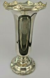 An Unusual 1930and039s Impressive Art Nouveau Styled Solid Silver Flower Vase