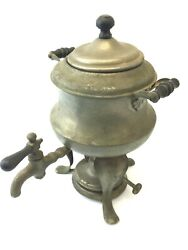 Antique Old 1914 Manning Bowman And Co Samovar Coffee Tea Service Pot Used