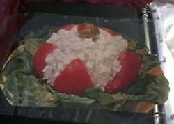 1930 Woolworth Glossy Advertising Die Cut Cottage Cheese Stuffed Tomato And Olive