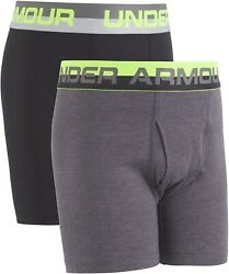 Under Armour Boysand039 184714 Charged Cotton Stretch Boxer Jock Underwear Size Ymd