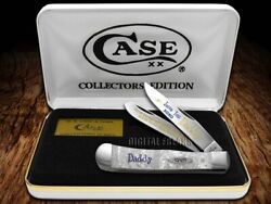 Case Xx Love You Daddy White Pearl Trapper 1 1/500 Stainless Pocket Knife