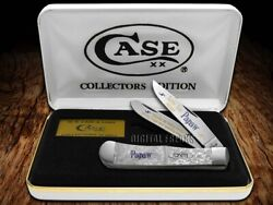 Case Xx Love You Papaw White Pearl 1 Trapper 1/500 Stainless Pocket Knife