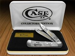 Case Xx World's Greatest Brother 1 White Pearl Corelon Trapper Pocket Knife