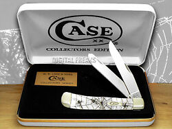 Case Xx Woodland Spider White Pearl Trapper Knives 2