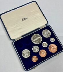 South Africa 1960 9 Coin Proof Set Gorgeous Condition - Original Box - Sa24
