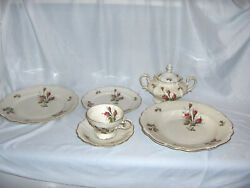 Vintage 44-pc Set Rosenthal China Pompadour Selb Germany 8 Place Settings Nice