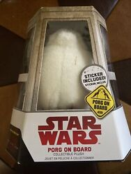 Disney Star Wars The Last Jedi Porg On Board Collectible Suction Cup Plush New